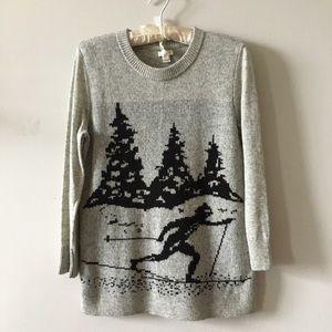 J Crew soft wool blend winter ski sweater Small